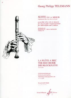 Suite En la Mineur - Flûte A Bec Alto et Clavecin laflutedepan