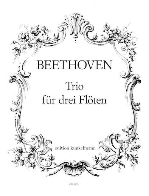 Trio für 3 Flöten - BEETHOVEN - Partition - laflutedepan.com