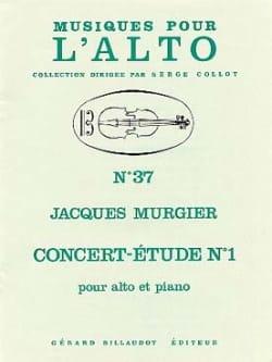 Concert-étude n° 1 Jacques Murgier Partition Alto - laflutedepan