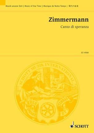 Canto di speranza - Partitur Bernd Alois Zimmermann laflutedepan