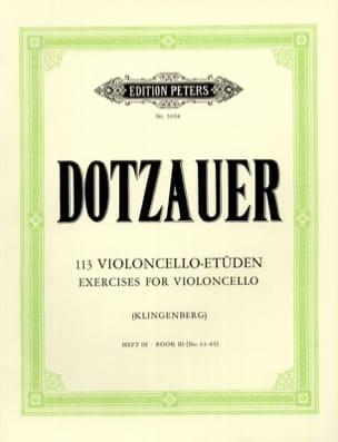 Friedrich Dotzauer - 113 Studies for Cello - Booklet 3 63-85 - Partition - di-arezzo.com