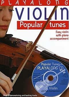 Play along Violon Popular tunes David Gedge Partition laflutedepan