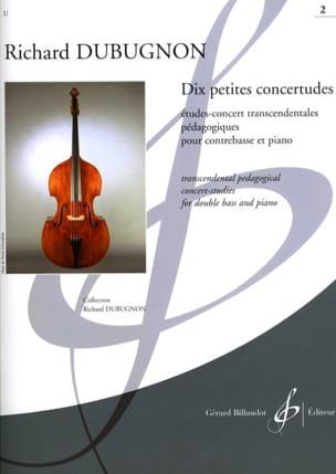 Dix petites Concertudes, Volume 2 Richard Dubugnon laflutedepan