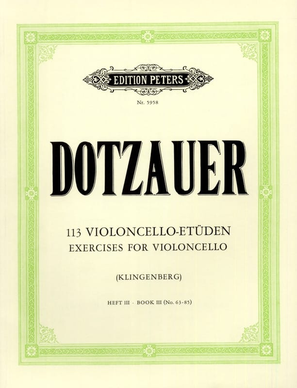 113 études pour violoncelle - cahier 3 63-85 - laflutedepan.com
