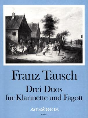 3 Duos - Klarinette Fagott Franz Tausch Partition Duos - laflutedepan