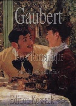 Pièce romantique Philippe Gaubert Partition Trios - laflutedepan