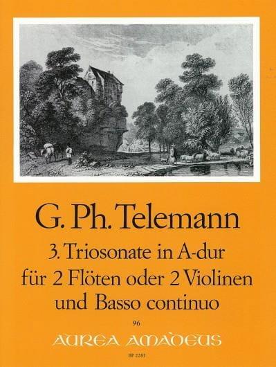 Triosonate Nr. 3 A-Dur -2 Flöten Violinen Bc - laflutedepan.com