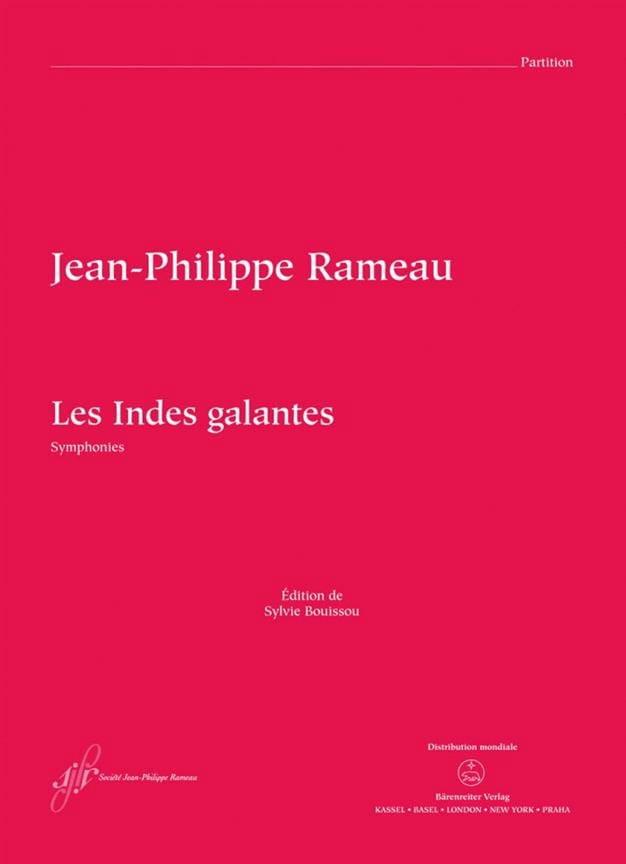 Les Indes Galantes - Symphonies - RAMEAU - laflutedepan.com
