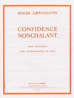 Confidence - Nonchalant Roger Loewenguth Partition laflutedepan