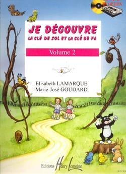 Elisabeth LAMARQUE et Marie-José GOUDARD - Descubro la clave de Sol y Fa - Volumen 2 - Partition - di-arezzo.es