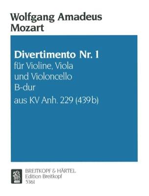 Divertimento Nr.1 B-Dur KV Anh. 229 -Violine Viola Cello - Stimmen laflutedepan