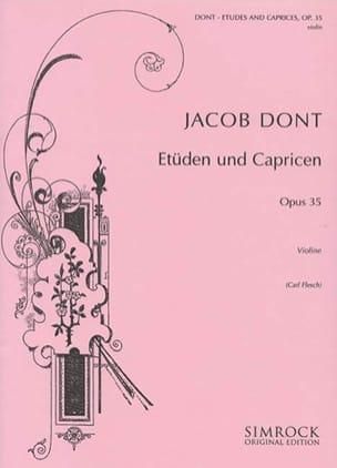 24 Etudes et Caprices op. 35 Flesch Jacob Dont Partition laflutedepan
