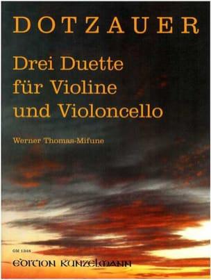 Drei Duette Friedrich Dotzauer Partition 0 - laflutedepan