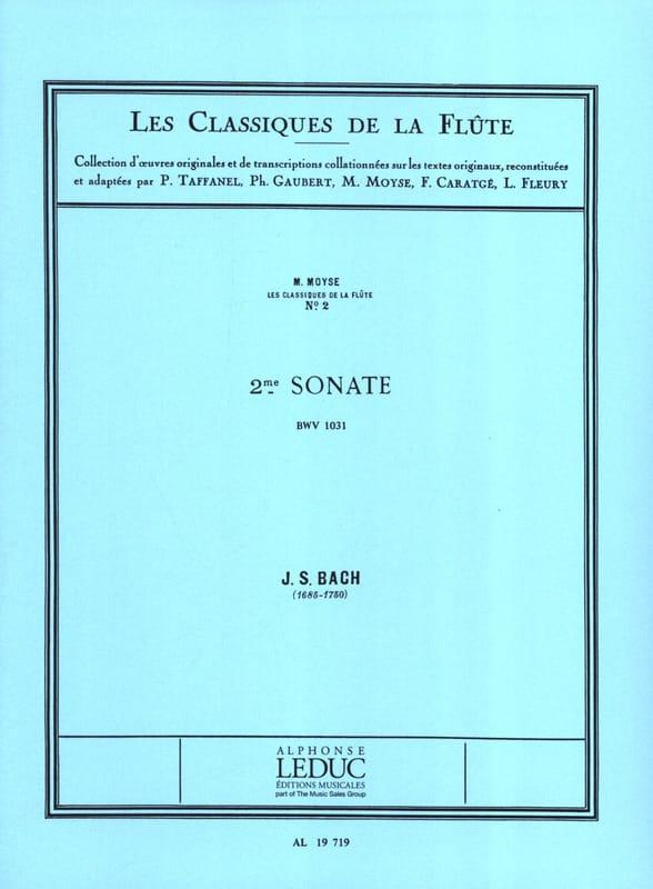 Sonate n° 2 mib majeur BWV 1031 - Flûte piano - laflutedepan.com
