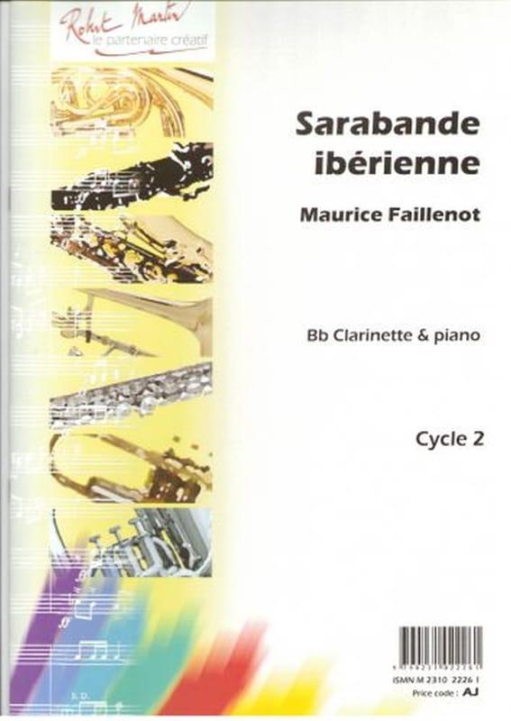 Sarabande ibérienne - Maurice Faillenot - Partition - laflutedepan.com
