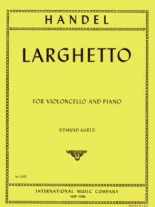 Larghetto - Violoncelle - HAENDEL - Partition - laflutedepan.com