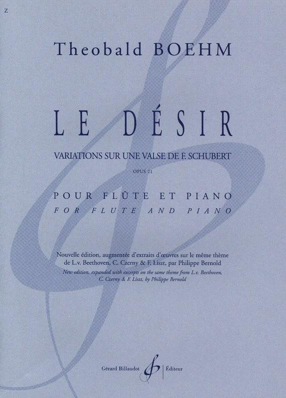 Le Désir, opus 21 - Theobald Boehm - Partition - laflutedepan.com