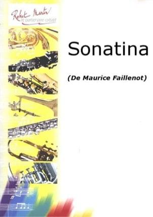 Sonatina Maurice Faillenot Partition Clarinette - laflutedepan