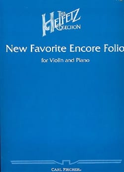 New Favorite Encore Folio Jascha Heifetz Partition laflutedepan