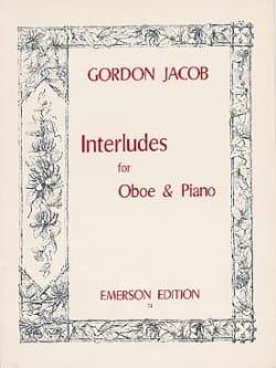 Interludes Gordon Jacob Partition Hautbois - laflutedepan