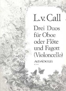 3 Duos Op. 12 Leonhard von Call Partition Duos - laflutedepan