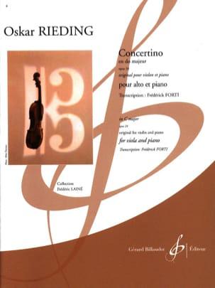 Concertino, opus 24 - Alto et Piano Oskar Rieding laflutedepan