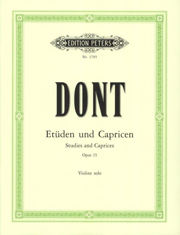 24 Etudes et caprices op. 35 Sitt - Jacob Dont - laflutedepan.com