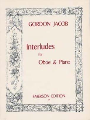 Interludes - Gordon Jacob - Partition - Hautbois - laflutedepan.com