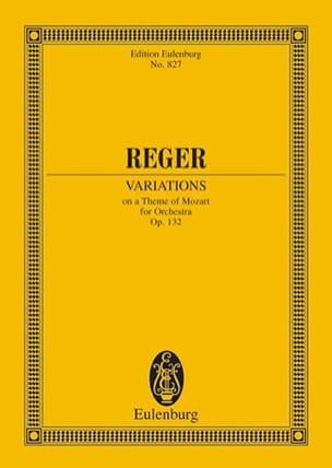 Variationen und Fuge, op. 132 Max Reger Partition laflutedepan
