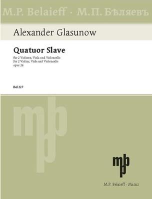Streichquartett Nr. 3 : Quatuor Slave op. 26 - Stimmen laflutedepan