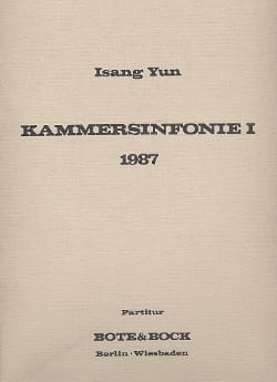 Kammersinfonie I 1987 - Partitur Isang Yun Partition laflutedepan