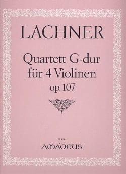 Quartett G-Dur für 4 Violinen, op. 107 -Stimmen laflutedepan