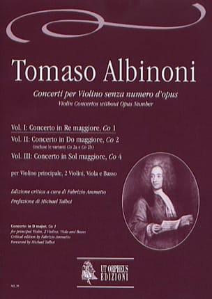 Concerto En Ré Maj. -Co1 - Volume 1 ALBINONI Partition laflutedepan