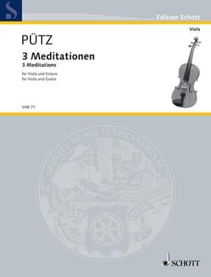 3 Méditations Eduard Pütz Partition 0 - laflutedepan