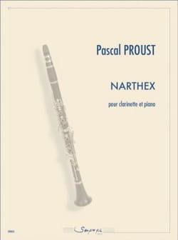 Narthex Pascal Proust Partition Clarinette - laflutedepan