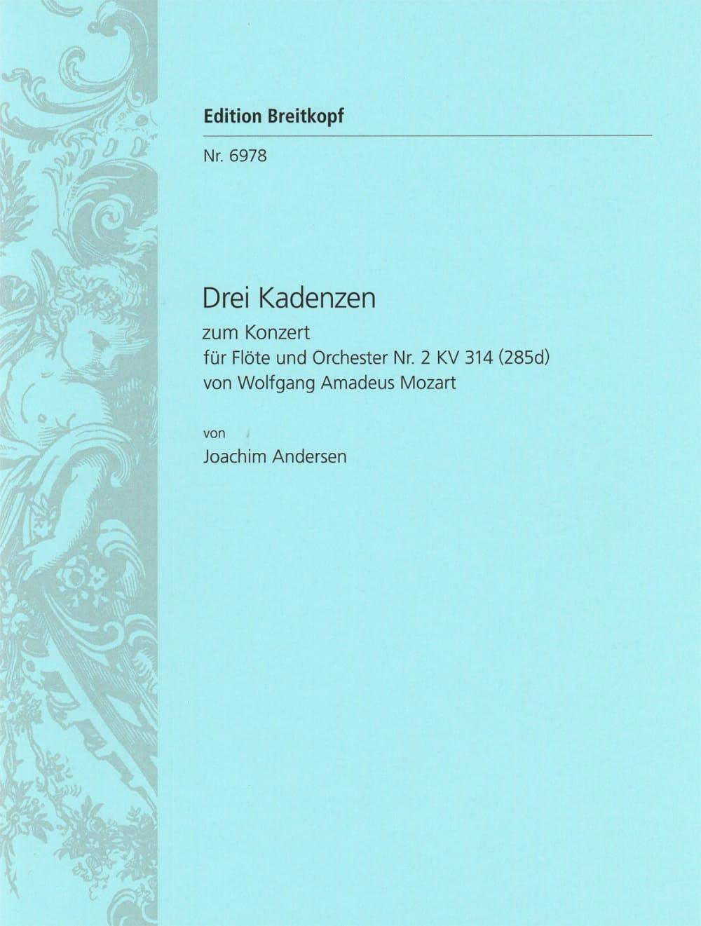 3 Kadenzen zum Konzert Nr. 2 für Flöte KV 314 - Flöte solo - laflutedepan.com