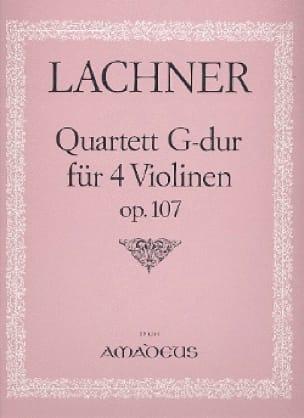 Quartett G-Dur für 4 Violinen, op. 107 -Stimmen - laflutedepan.com