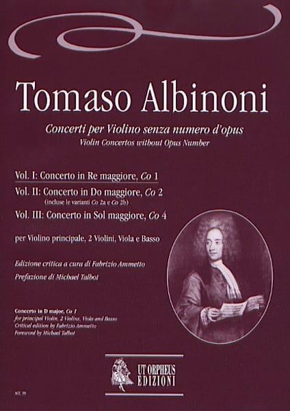 Concerto En Ré Maj. -Co1 - Volume 1 - ALBINONI - laflutedepan.com