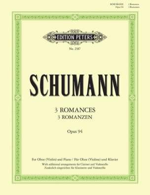 3 Romanzen Op. 94 -oboe Violine Klavier SCHUMANN laflutedepan