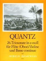Triosonate Nr. 26 e-moll QUANTZ Partition Trios - laflutedepan