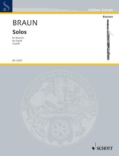 Solos 1740 -Fagott - Jean-Daniel Braun - Partition - laflutedepan.com