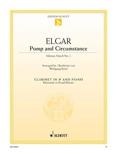 Pomp And Circumstance - Clarinette - ELGAR - laflutedepan.com