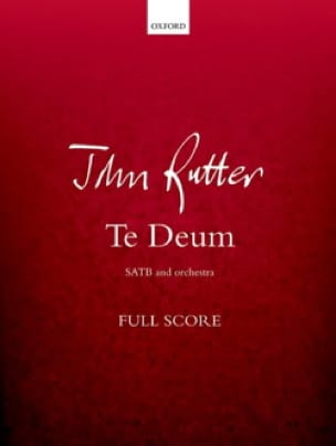Te Deum - Conducteur - RUTTER - Partition - laflutedepan.com