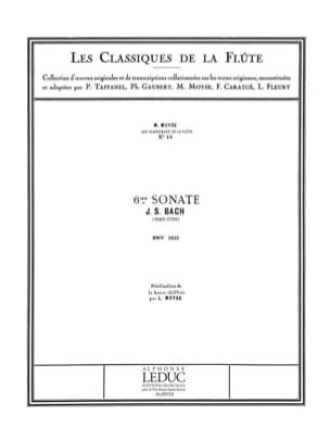 Sonate n°6 mi majeur BWV 1035 - Flûte piano - BACH - laflutedepan.com