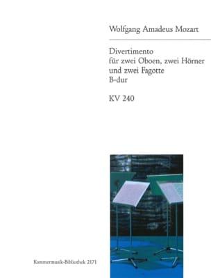Divertimento B-Dur KV 240 - Bläsersextett - Stimmen laflutedepan