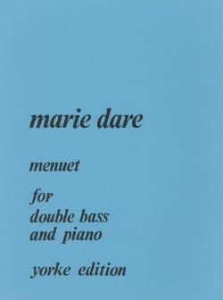 Menuet for double bass and piano Marie Dare Partition laflutedepan