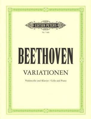 BEETHOVEN - Variationen - Cello Klavier - Partition - di-arezzo.co.uk