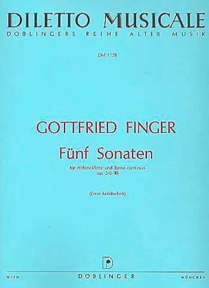 5 Sonaten op. 3 n° 6-10 - Altblockflöte u. Bc laflutedepan