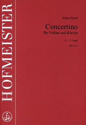 Concertino Klaus Hertel Partition Violon - laflutedepan