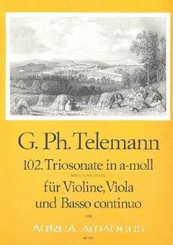 Triosonate Nr. 102 in a-moll - Violine Viola Bc TELEMANN laflutedepan